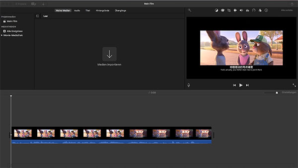 mov dateien in imovie importieren mac