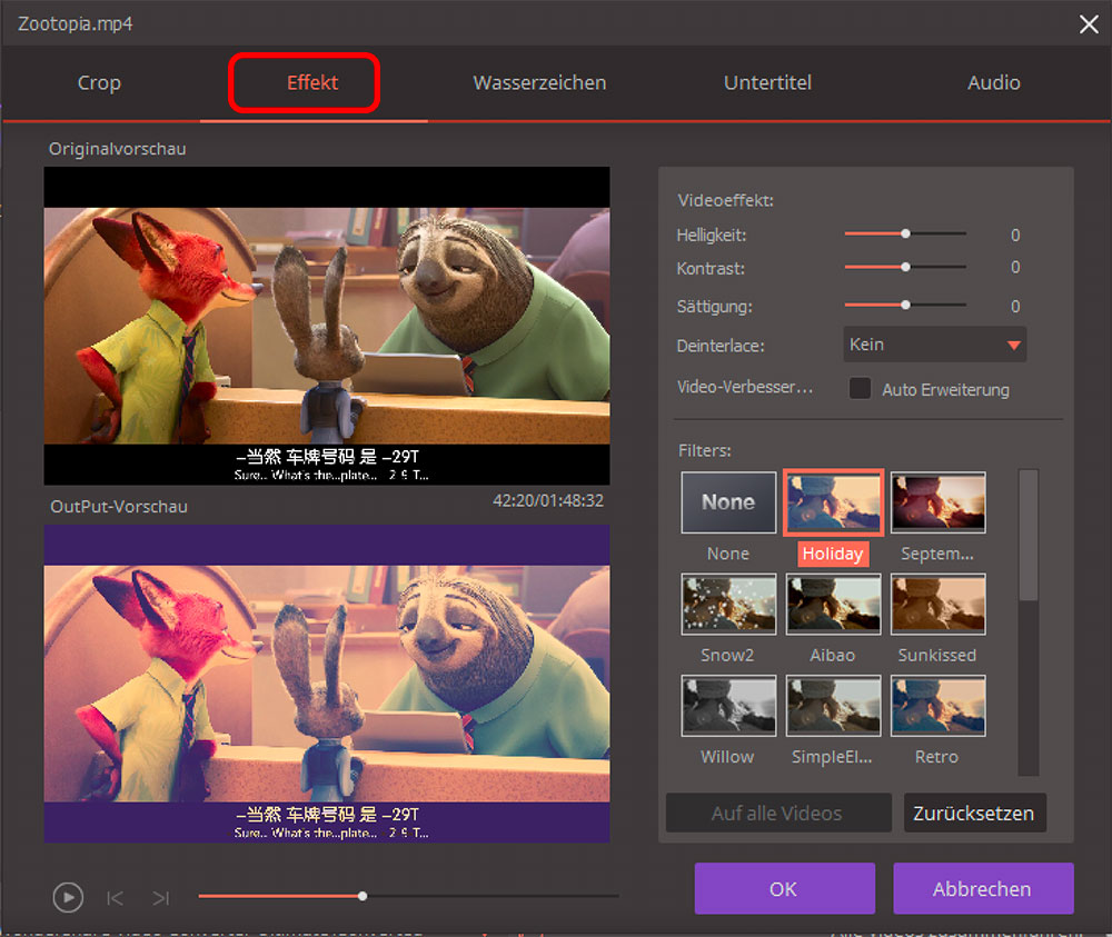 Video Converter Ultimate effekte anpassen